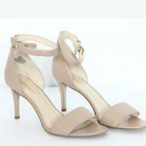 NWOT Nine West | Nude Ankle Strap Heels